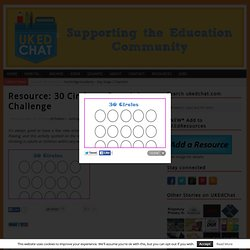 Resource: 30 Circles – Creativity Challenge