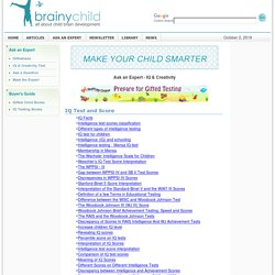 Ask the Expert - IQ and Creativity testing for children
