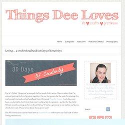 Loving... a crochet headband {30 Days of Creativity} - Thingsdeeloves