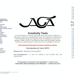 American Creativity Association Creativity Tools