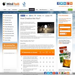 Creativity Quiz - Creativity Tools from MindTools