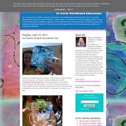 Art and Creativity: Ice Tunnels: Bring on the Summer Fun!
