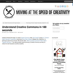 Understand Creative Commons in 180 secs.