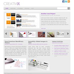 WP Creativix - Free Premium Wordpress Portfolio & Business Theme