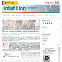 """MOOC sobre """"Uso creativo de tabletas en educación"""" de European Schoolnet"""