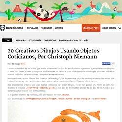 20 Creativos dibujos usando objetos cotidianos, por Christoph Niemann