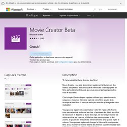 Movie Creator Beta : éditeur vidéo