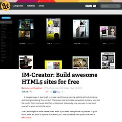 IM-Creator: Build awesome HTML5 sites for free