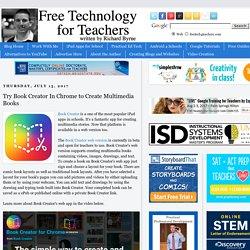 Try Book Creator In Chrome to Create Multimedia Books