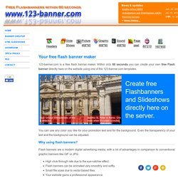 Free Flash Banner Creator, creating amazing flashbanner online