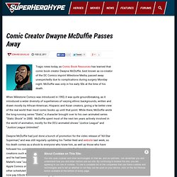 Comic Creator Dwayne McDuffie Passes Away