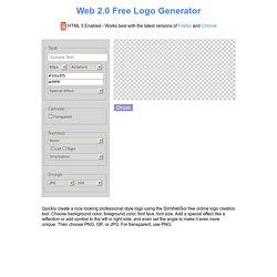 Logo Creator Online. Design and Create Free Logos web 2.0