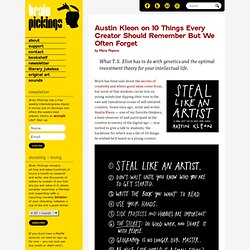 Austin Kleon on 10 Things Every Creator Should Remember But We Often Forget