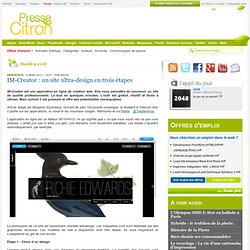 IM-Creator : un site ultra-design en 3 étapes