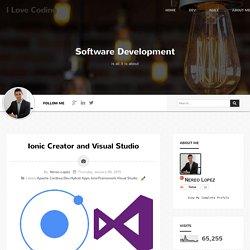 Ionic Creator and Visual Studio