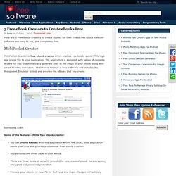 3 Free eBook Creators to Create eBooks Free