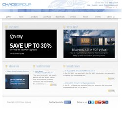 Chaos Group / Chaos Software official website - home - V-Ray® - award winning, production-ready 3D rendering solutions