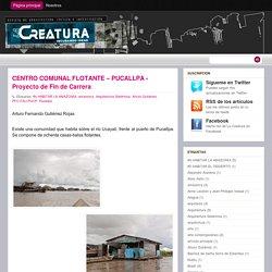 La Creatura: CENTRO COMUNAL FLOTANTE – PUCALLPA - Proyecto de Fin de Carrera