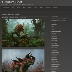 Creature Spot - The Spot for Creature Art, Artists and Fans