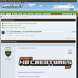 [MOD] Mo' Creatures - Version 1.6.6 with Horses - Pegasus - Minecraft Forums
