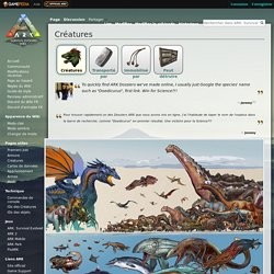 Créatures - Wiki Officiel de ARK: Survival Evolved