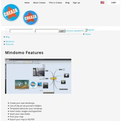 Mindomo - Features - Creaza Education