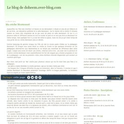Ma crèche Montessori - Le blog de doheem.over-blog.com