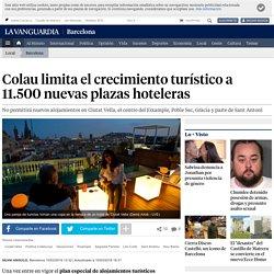 Colau limita el crecimiento turístico a 11.500 nuevas plazas hoteleras