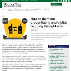 How to do micro-credentialing and digital badging the right way