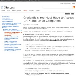 Credentials You Must Have to Access UNIX and Linux Computers