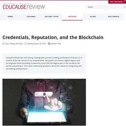 Credentials, Reputation, and the Blockchain