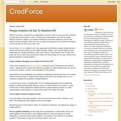 CredForce: People Analytics All Set To Redefine HR