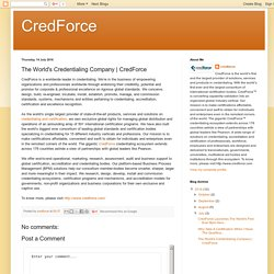 CredForce: The World's Credentialing Company