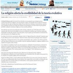 La religión afecta la credibilidad de la teoría evolutiva