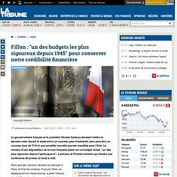 En Haute-Savoie, Sarkozy et Fillon mitonne leur plan d'austérité pour lundi