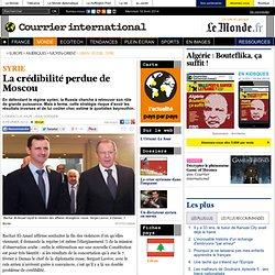 La crédibilité perdue de Moscou