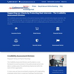 Lie Detector Test - Credibility Assessment for Businesses