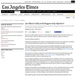 Credibility of Silicon Valley tech bloggers is at issue