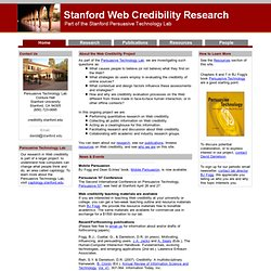 The Web Credibility Project - Stanford University