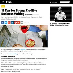 12 Tips for Strong, Credible Business Writing