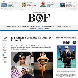Is Fashion a Credible Platform for Protest?