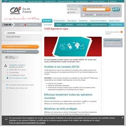 Crédit Agricole d'Ile de France - Crédit Agricole en Ligne - Tous nos produits - Crédit Agricole