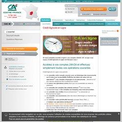 Crédit Agricole Centre France - Crédit Agricole en Ligne - Tous nos produits - Crédit Agricole