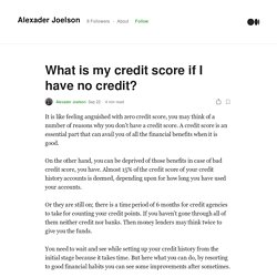 What is my credit score if I have no credit?