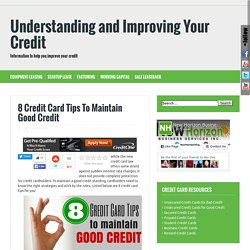 how to maintain good credit score