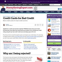 Credit cards for bad credit: rebuild your credit