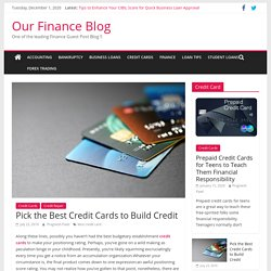 Pick the Best Credit Cards to Build Credit