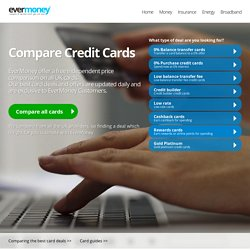 Credit Cards - Find and compare the best 0% card deals instantly