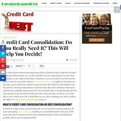 Best method for credit card debt consolidation