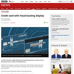 Credit card with fraud-busting display